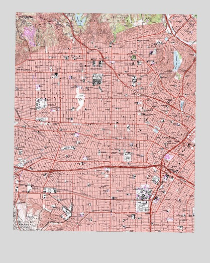 Hollywood, CA USGS Topographic Map