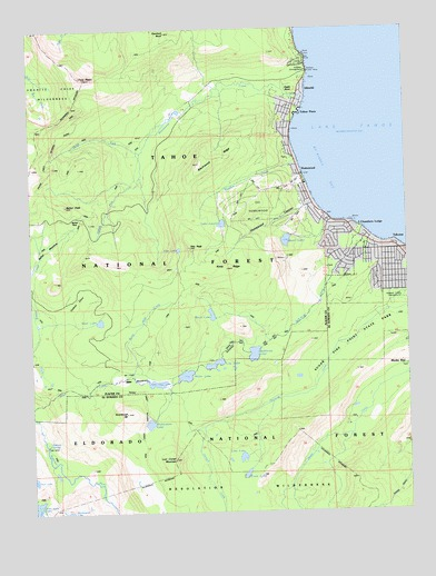 Homewood, CA USGS Topographic Map