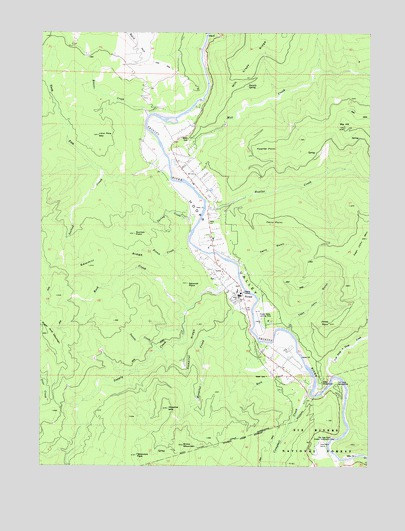 Hoopa, CA USGS Topographic Map