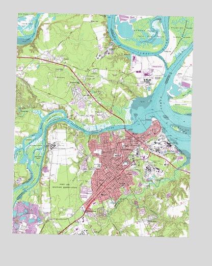 Hopewell Va Topographic Map Topoquest