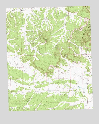 Hosta Butte, NM USGS Topographic Map