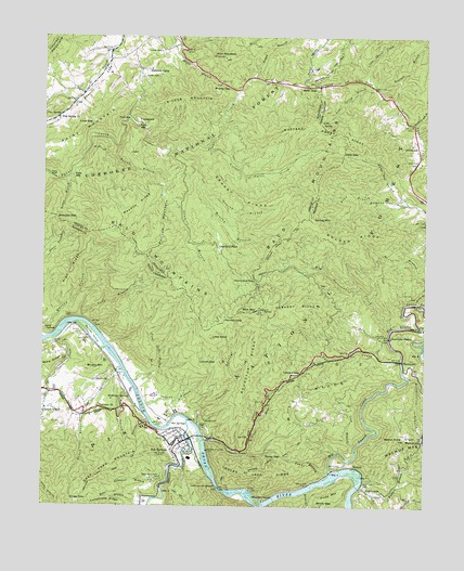 Hot Springs, NC USGS Topographic Map