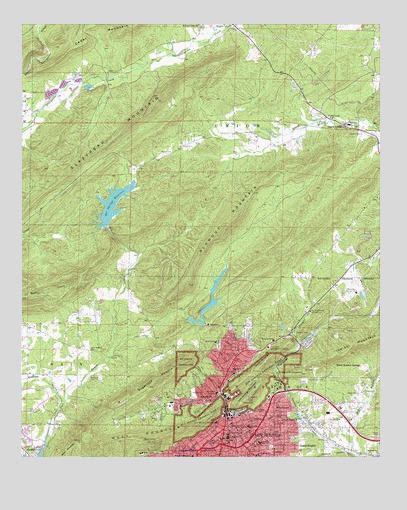 Hot Springs North, AR Topographic Map - TopoQuest