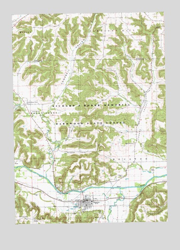 Houston Mn Topographic Map Topoquest