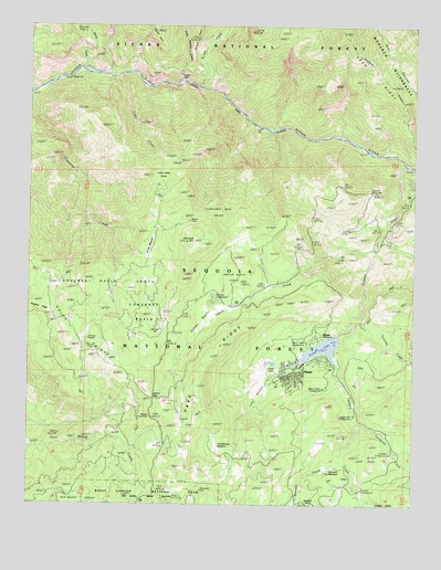 Hume, CA USGS Topographic Map