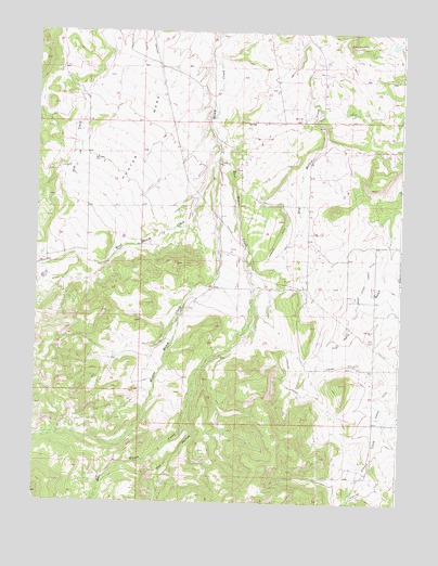 Hunter Mesa, CO USGS Topographic Map