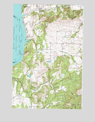 Hunters WA Topographic Map - TopoQuest