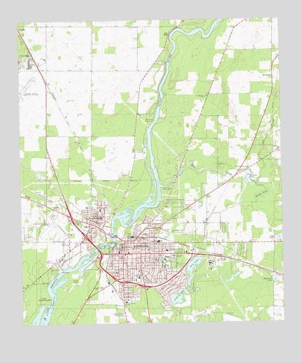 Bainbridge GA Topographic Map TopoQuest - Georgia topographic map