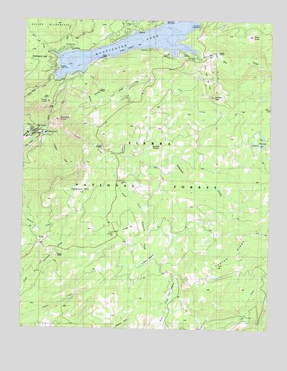 Huntington Lake Ca Topographic Map Topoquest