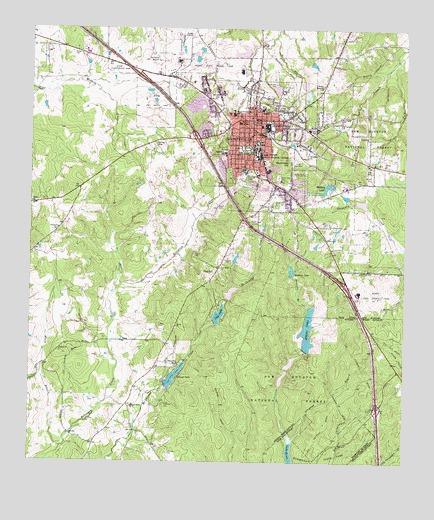 Map Of Huntsville Texas Huntsville, TX Topographic Map   TopoQuest