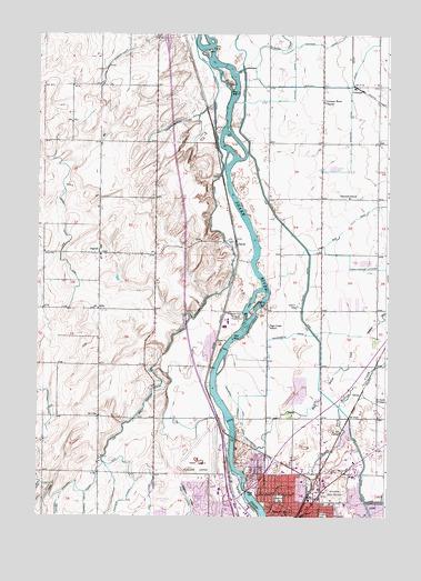 Idaho Falls North, ID Topographic Map - TopoQuest