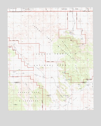 Joshua Tree Topographic Map.Indian Cove Ca Topographic Map Topoquest