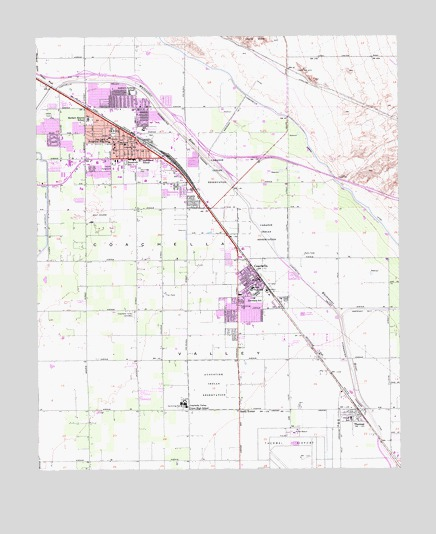 Indio, CA Topographic Map - TopoQuest