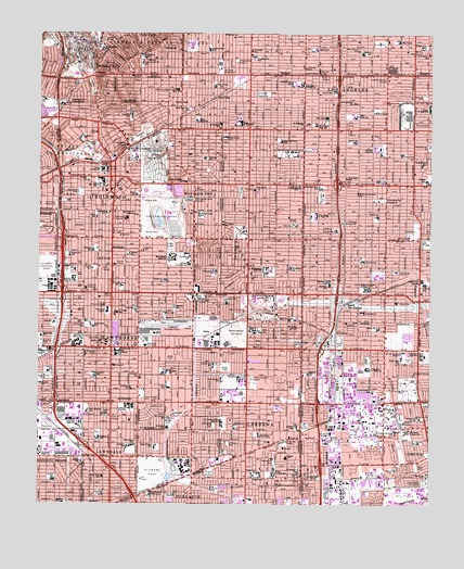 Inglewood, CA USGS Topographic Map