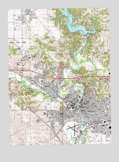 Iowa City West Ia Topographic Map Topoquest