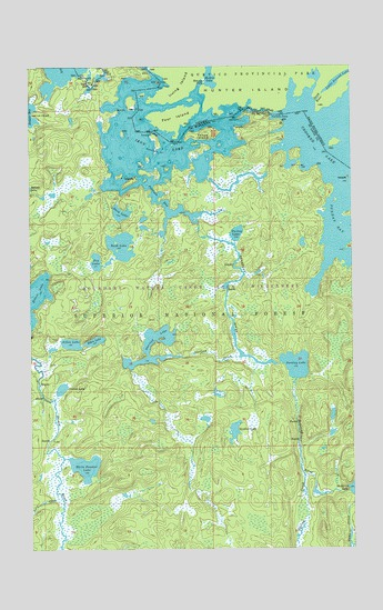 Iron Lake, MN USGS Topographic Map