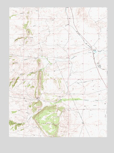 Islay, WY USGS Topographic Map