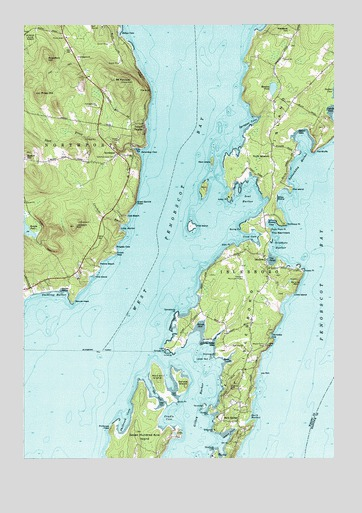 Islesboro Me Topographic Map Topoquest