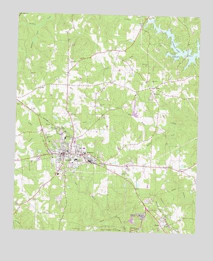 Jackson GA Topographic Map TopoQuest - Jackson georgia map