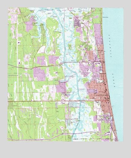 Florida Topographic Map.Jacksonville Beach Fl Topographic Map Topoquest