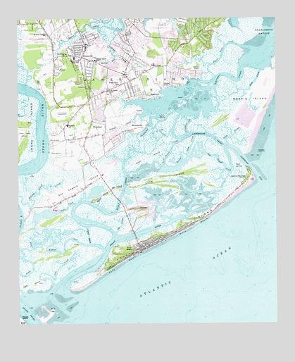 James Island Sc Topographic Map Topoquest