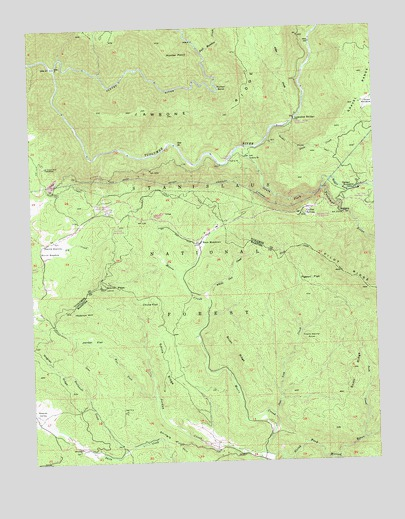 Jawbone Ridge, CA USGS Topographic Map