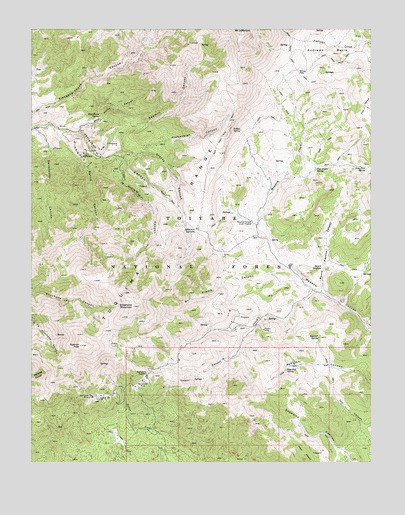 Jefferson, NV USGS Topographic Map