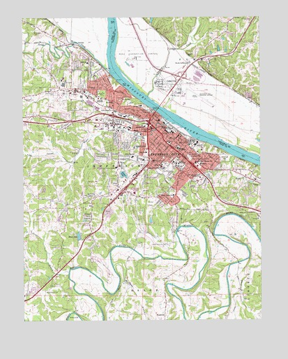Jefferson City, MO Topographic Map - TopoQuest