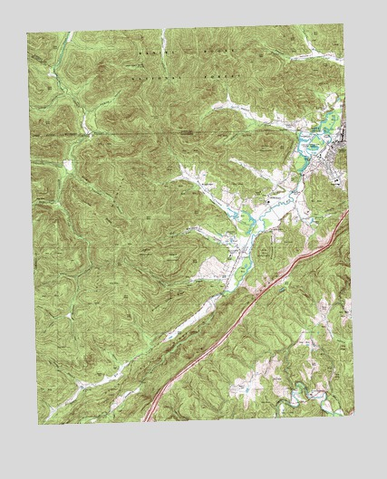 Jellico West, TN USGS Topographic Map