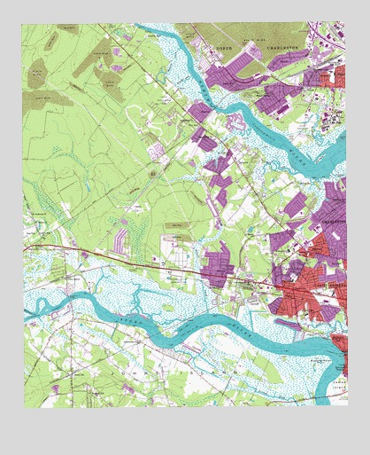 Johns Island Sc Topographic Map Topoquest