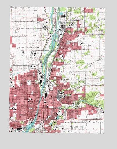 Joliet IL Topographic Map TopoQuest - Joliet map