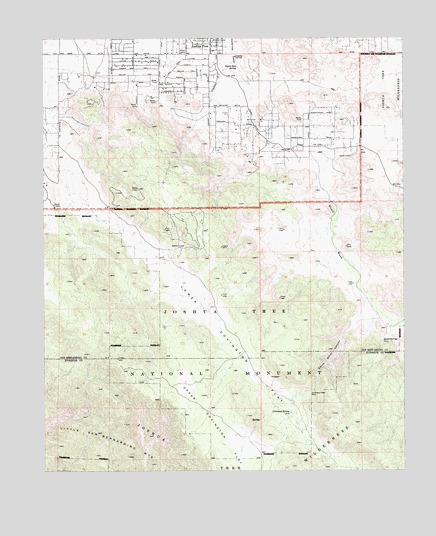 Joshua Tree Topographic Map.Joshua Tree South Ca Topographic Map Topoquest