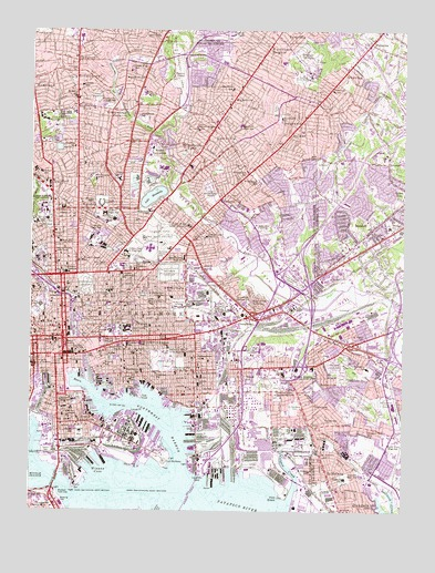 Baltimore East, MD USGS Topographic Map