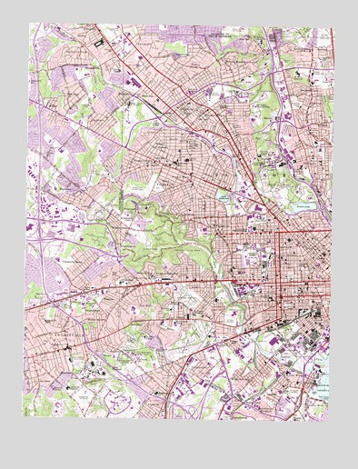 Baltimore West, MD USGS Topographic Map