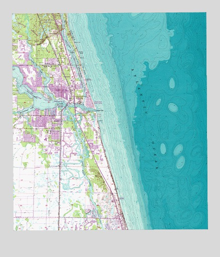 Map Of Florida Showing Jupiter.Jupiter Fl Topographic Map Topoquest