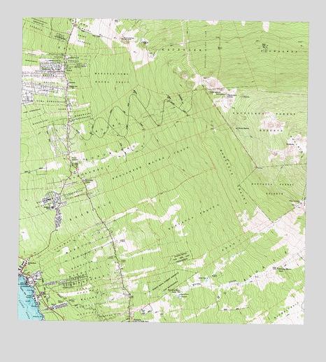 Topographic Map Oahu.Kailua Hi Topographic Map Topoquest