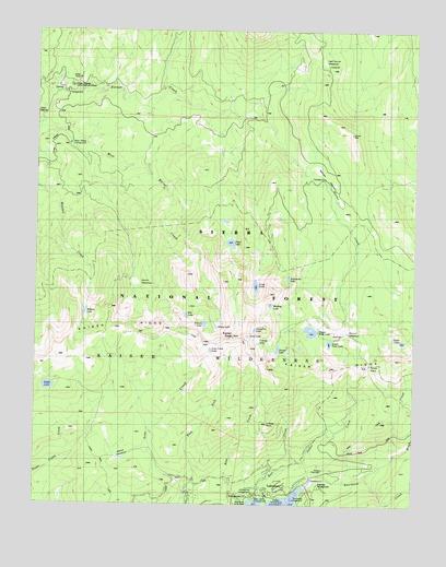 Kaiser Peak, CA Topographic Map - TopoQuest on