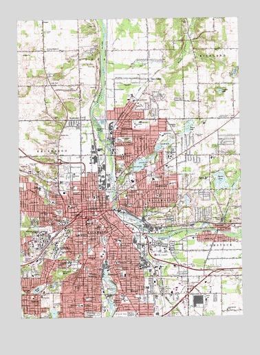 Worksheet. Kalamazoo MI Topographic Map  TopoQuest