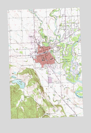Kalispell Mt Topographic Map Topoquest