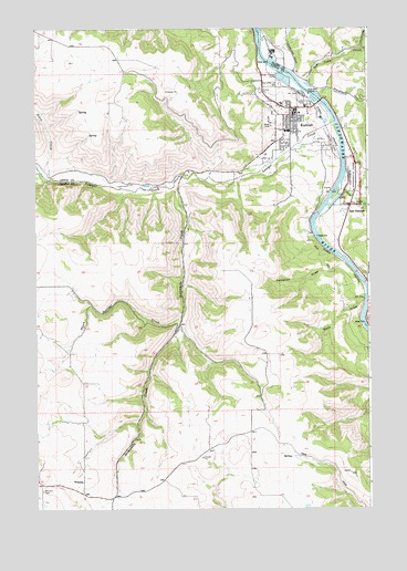 Kamiah Id Topographic Map Topoquest
