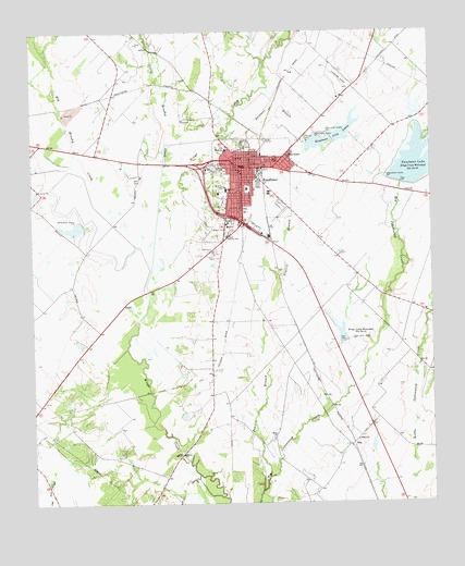 Kaufman, TX Topographic Map - TopoQuest