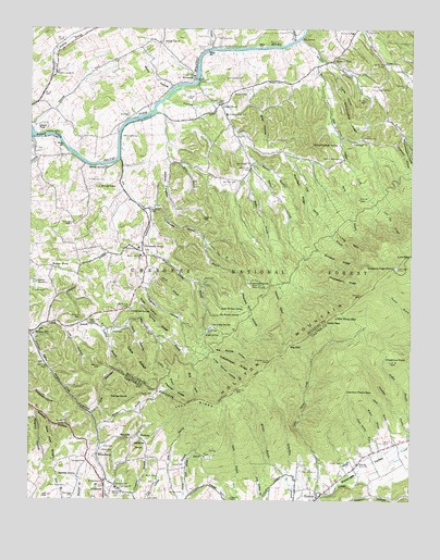 Keenburg, TN USGS Topographic Map