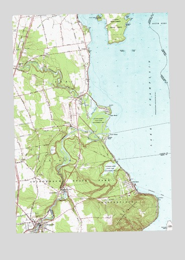 Keeseville Ny Topographic Map Topoquest