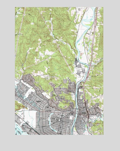 Kelso WA Topographic Map  TopoQuest