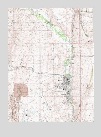 Kemmerer Wyoming Map.Kemmerer Wy Topographic Map Topoquest