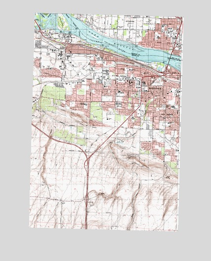 Kennewick Wa Topographic Map Topoquest