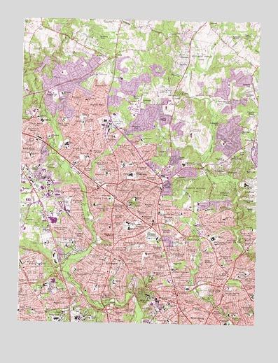 Kensington, MD Topographic Map - TopoQuest