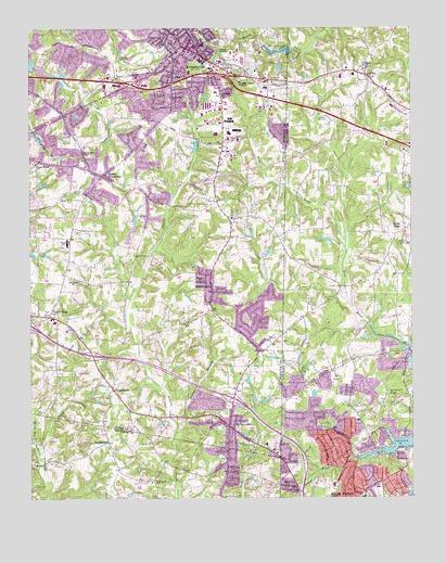 Kernersville Nc Topographic Map Topoquest