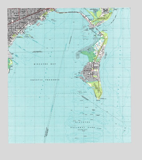Key Biscayne Fl Topographic Map Topoquest
