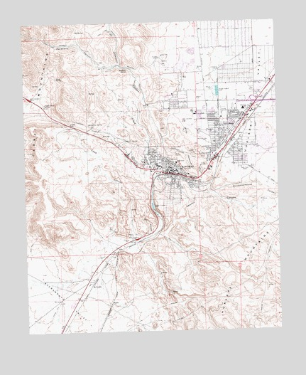 Kingman, AZ USGS Topographic Map